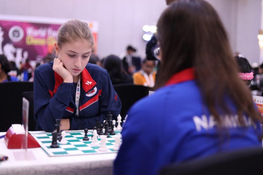 Linnea i aksjon i runde 6 under VM for ungdom 2019